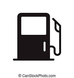 petrol glyph flat icon