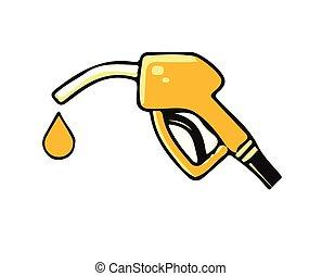 petrol icon on white background