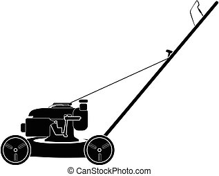 Ride on lawn mower racing retro Stock Illustration ...