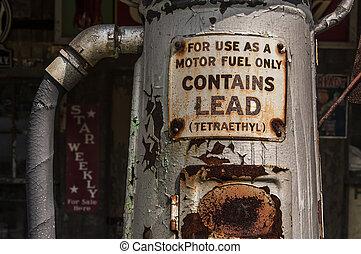 petrol pump - old petrol pump in New England, Usa