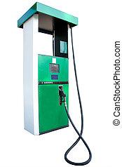 petrol pump under the white background