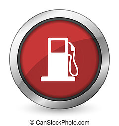 petrol red icon gas station sign