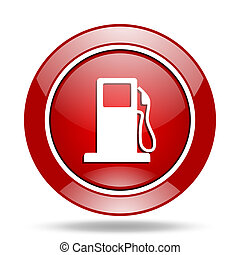 petrol red web glossy round icon