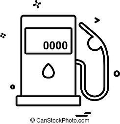 Petrol station icon design vector