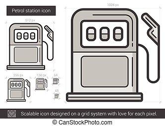 Petrol station line icon.