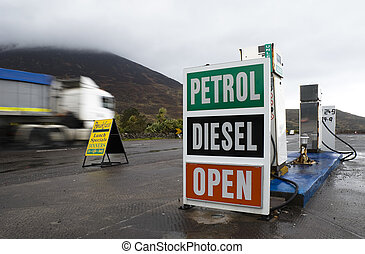 Petrol Station - Old petrol station and truck in Ring of...