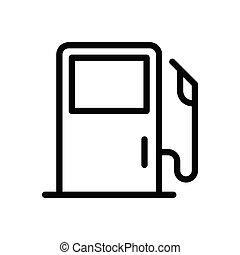 petrol thin line icon
