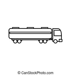 Petrol truck icon, outline style