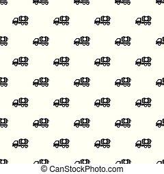 Petrol truck pattern seamless vector repeat geometric for...