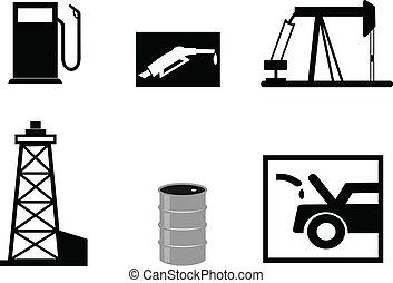 petrol, vetorial, ilustrações