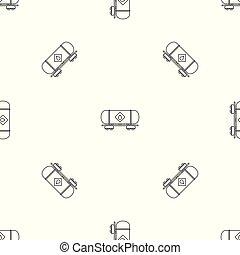 Petrol wagon pattern seamless vector