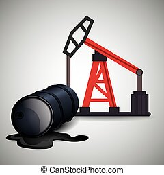 petroleum and oil design - oil rig tower and can. petroleum...
