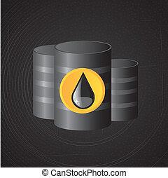 petroleum design over black background vector illustration