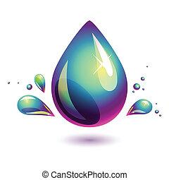 Petroleum drop - Color drop of petroleum on white. eps10