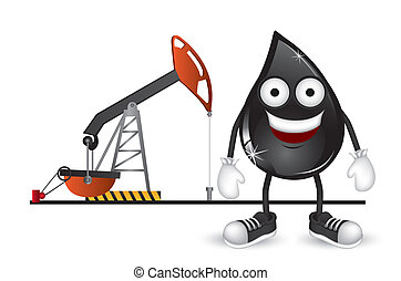 Petroleum drop - Illustration of petroelum drop on petroleum...