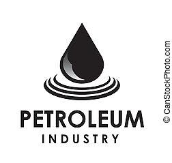 petroleum drop - Illustration of petroelum drop over white ...