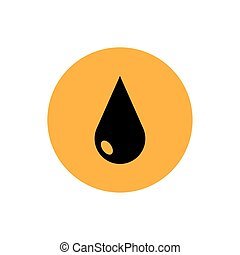 petroleum drop of oil price isolated icon