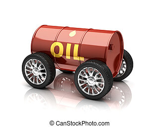 petroleum fuels vehicle 3d concept illustration