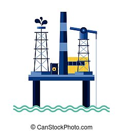 petroleum platform of oil price icon
