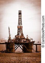 Petroleum platform on the Guanabara bay