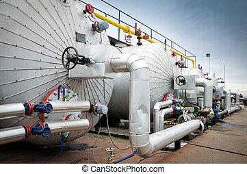 petrolio benzina, industria