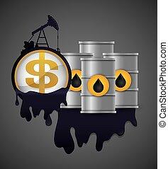petrolio, prezzo, disegno