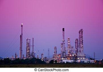 petrolkémiai, olajfinomító, berendezés