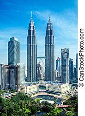 petronas emelkedik, kuala lumpur, -, malaysia