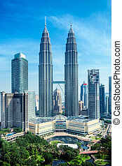 petronas ragt hoch, kuala lumpur, -, malaysien