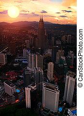 Petronas Towers at Sunset