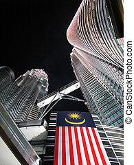 Petronas towers by night. Kuala Lumpur, Malaysia