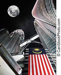 Petronas towers by night. Kuala Lumpur