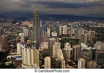 Petronas Towers Dominate Kuala Lumpur's Skyline