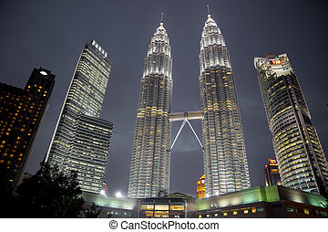 Petronas towers - KUALA LUMPUR - AUG 29: The Petronas Towers...