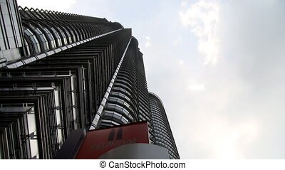 Petronas towers twin towers timelap