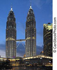 Petronas Twin Towers in Kuala Lumpur in Malaysia