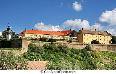 Novi Sad, Serbia - Petrovaradin Fortress and Danube river in...