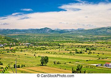 Petrovo Polje field aerial view