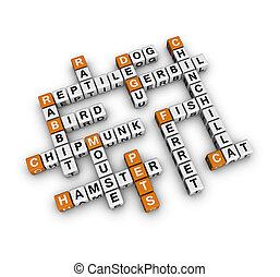 pets    (3D crossword orange series)