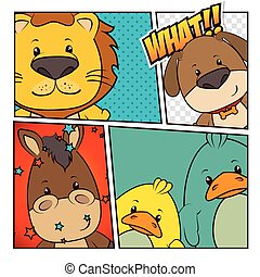 Pets and animals cartoons