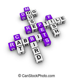 pets (blue-white cubes crossword series)