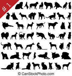 pets silhouettes # 1 - Set # 1 of different pets silhouettes...