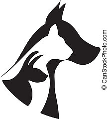 Pets silhouettes logo