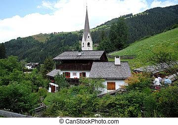 Petschied village near Luson, Northern Italy