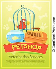 Petshop vector illustration