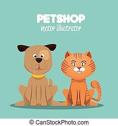 petshop veterinary symbol icon