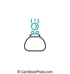 Petty cash vector thin line stroke icon. Petty cash outline...