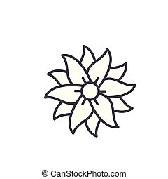 Petunia line icon, vector illustration. Petunia flat concept sign.