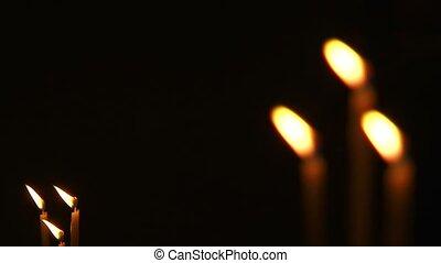 peu, église, bougies