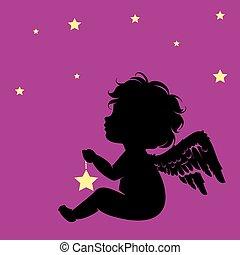 peu, étoile, ange